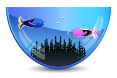 Acquario con i pesci Illustrazione Vettoriale