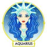 Acquario del segno dello zodiaco Immagine Stock Libera da Diritti