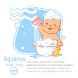 Acquario dello zodiaco del bambino Fotografia Stock Libera da Diritti