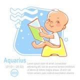 Acquario dello zodiaco del bambino Fotografia Stock