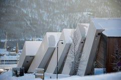 Acquario e museo di Tromso Polaria Fotografie Stock