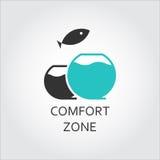 Acquario e pesce di salto, concetto di zona di comodità Immagine Stock