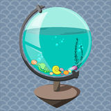 Acquario in un globo Fotografia Stock Libera da Diritti
