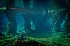 Acquario vuoto soleggiato fotografie stock