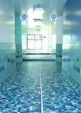 Acquatic Center Hallway. Aquatic center hallway leading to locker rooms, in El Monte, California, 1st class modern facility Stock Photos