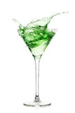 Acquavite della menta piperita cocktail Spruzzata fotografia stock