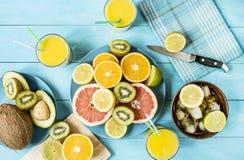 Acquavite di frutta dell'agrume Fotografie Stock