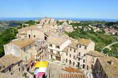 Acquaviva Picena small village on Marche Royalty Free Stock Photo
