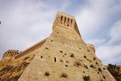 Acquaviva Picena, sous la forteresse Photographie stock libre de droits
