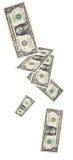 Acquazzone della fattura del dollaro uncropped Immagini Stock Libere da Diritti