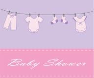 Acquazzone della neonata Fotografia Stock