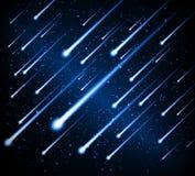 Acquazzone di meteora della priorità bassa dello spazio Fotografie Stock