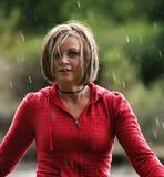 Acquazzone di pioggia Fotografia Stock