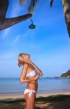 Acquazzone sulla spiaggia Fotografia Stock Libera da Diritti