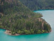 Acque del turchese di Diablo Lake North Cascades Fotografie Stock Libere da Diritti