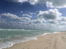 Acque del turchese del golfo del Messico in Florida fotografia stock