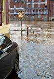 Acque di inondazione Immagine Stock
