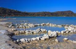 Acque termali, inPantelleria di Lago di Venere Immagine Stock
