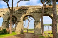 Acquedotto Appio Claudio, Rome, Italien Arkivbilder