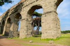 Acquedotto Appio Claudio, Rzym, Włochy Zdjęcie Stock