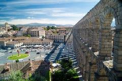 Acqueduct i Segovia Arkivfoton