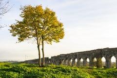 Acqueduct romain Photographie stock