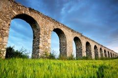 Acqueduct romano Immagini Stock Libere da Diritti