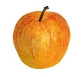 Acquerello Apple giallo su fondo bianco Fotografia Stock