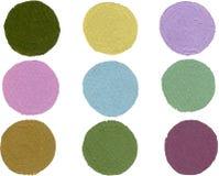 Acquerello astratto del cerchio su colore bianco di gouache del fondo che spruzza nella carta royalty illustrazione gratis