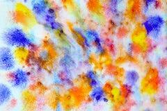 Acquerello astratto multicolore Fotografia Stock Libera da Diritti