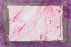 Acquerello astratto rosso Fotografia Stock Libera da Diritti