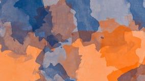 Acquerello astratto variopinto della macchia Immagine di alta risoluzione, colori bagnati su fondo di carta asciutto illustrazione di stock