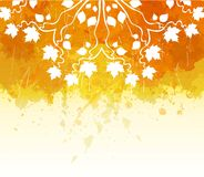 Acquerello Autumn Abstract Background illustrazione vettoriale