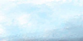 Acquerello blu astratto per fondo Fotografia Stock