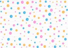 Acquerello blu e giallo Dots Pattern di rosa, in Grey Background royalty illustrazione gratis