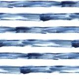 Acquerello blu scuro dell'estratto di vettore senza cuciture Fotografie Stock Libere da Diritti