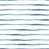 Acquerello blu scuro dell'estratto di vettore senza cuciture Immagine Stock