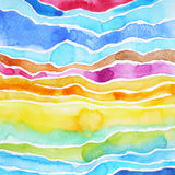 Acquerello che dipinge progettazione astratta dell'illustrazione del modello della montagna Immagine Stock