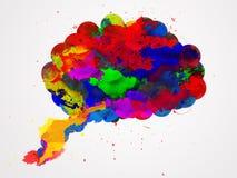 Acquerello del cervello Fotografia Stock