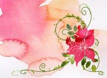 Acquerello del fiore illustrazione di stock