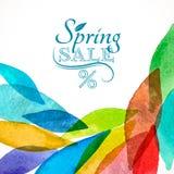 Acquerello di vendita di colore della primavera Fotografie Stock Libere da Diritti
