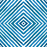 Acquerello geometrico blu Modello senza cuciture curioso Bande disegnate a mano Struttura della spazzola eccezionale royalty illustrazione gratis