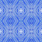 Acquerello geometrico blu Picchiettio senza cuciture curioso illustrazione vettoriale