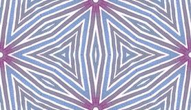 Acquerello geometrico blu Reticolo senza giunte sveglio Bande disegnate a mano Struttura della spazzola Chevr energetico immagine stock