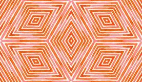Acquerello geometrico rosa-rosso Senza cuciture delizioso immagine stock libera da diritti