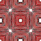 Acquerello geometrico rosa-rosso Senza cuciture delizioso fotografie stock