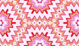 Acquerello geometrico rosa-rosso Senza cuciture delizioso royalty illustrazione gratis