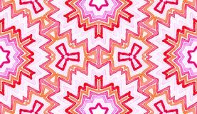 Acquerello geometrico rosa-rosso Senza cuciture delizioso illustrazione di stock