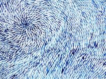 Acquerello minimo dell'onda floreale del fiore che dipinge disegnato a mano illustrazione di stock