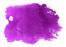 Acquerello porpora vibrante astratto su fondo bianco Il colore illustrazione vettoriale